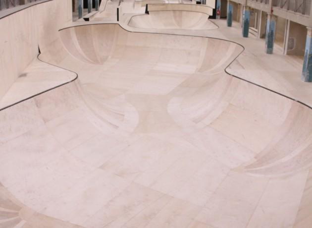 A skate bowl