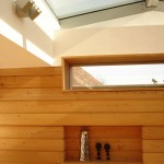 openings within timber clad wall