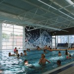 Willink pool with mural