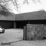 Fig tree cottage Existing Garage before conversion BW copy