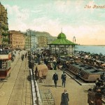 Another-hand-coloured-picture-of-a-tram-at-White-Rock-in-1907.