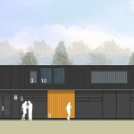 G toilet facilities west elevation